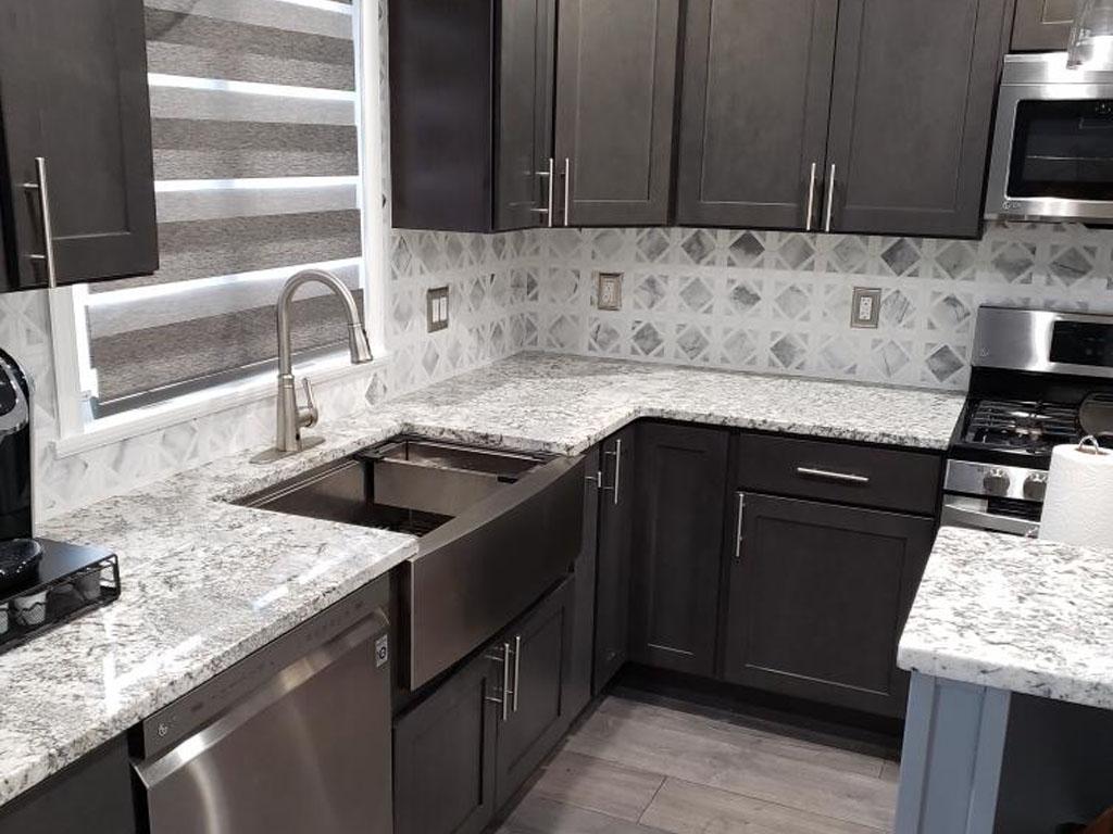 Small Smokey Grey Kitchen